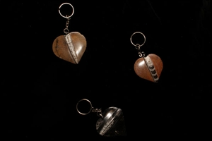 Picture of Heart Shaped Orthoceras Keychains